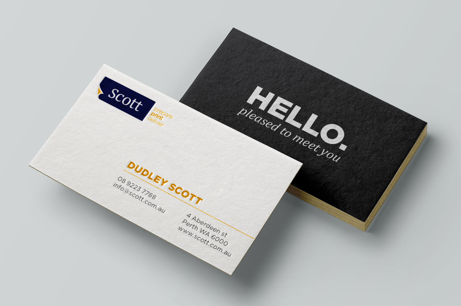Business card printing perth wa scott print whether you hand over a plain card or well designed embellished business card it is a reflection on your business and sets the standard of expectation reheart Images